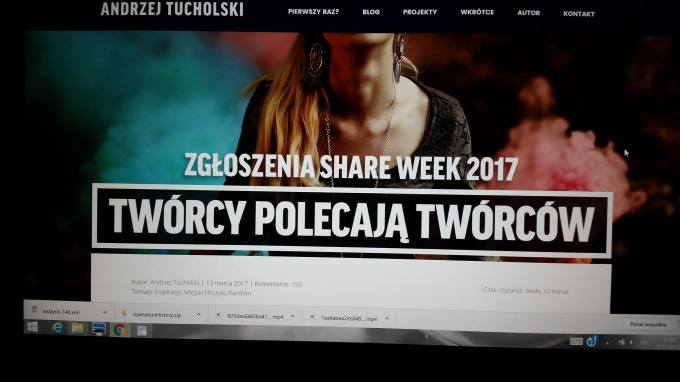 SHARE WEEK 2017 Andrzej Tucholski